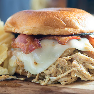 Slow Cooker Honey Mustard Chicken Sandwiches