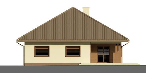 Dom przy Rubinowej 2 - Elewacja tylna