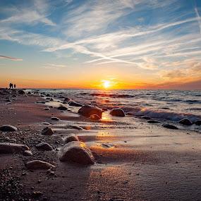 Rozewie, Jastrzębia Góra by Paweł Mielko - Landscapes Beaches ( landscapes, landscape photography, sunrise, sunshine, poland, landscaping, sun, sea, beaches, sun light, sunlight, seascape, sea life, beach, sunset, sunny, rozewie, landscape )