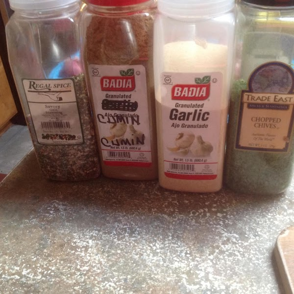 These are the main spices. plus the addition of paprika.