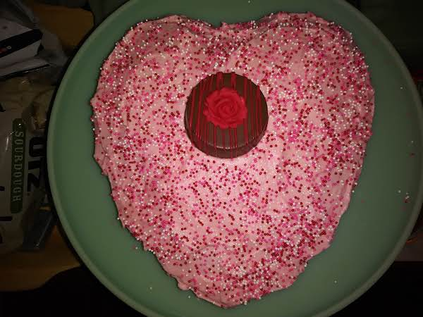Best Single Layer Cake ! Made For Husband's Valentine ❤ He Loved It !