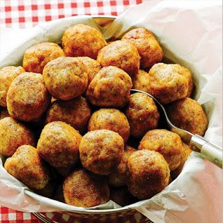 Paleo Fried Chicken Meatballs with Collard Greens.