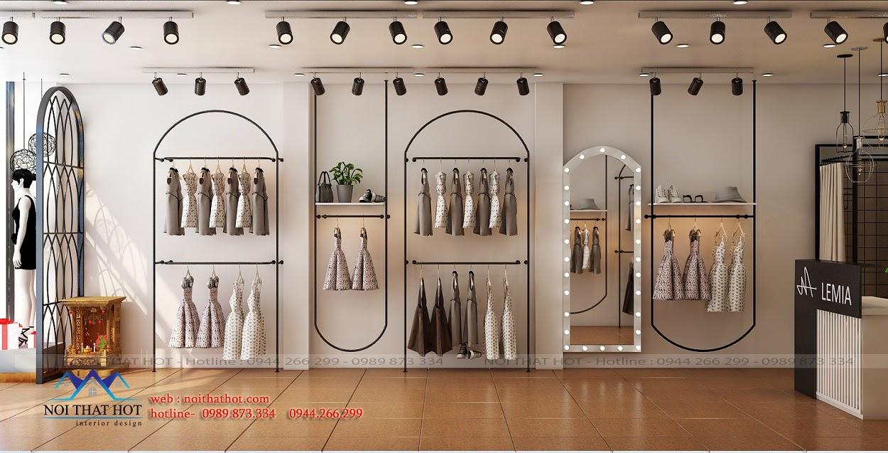 Thiết kế shop thời trang nữ phong cách trẻ trung