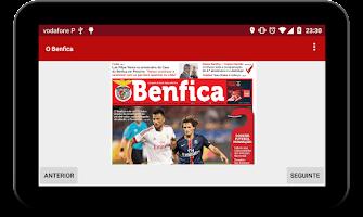 Screenshot of newsBenfica