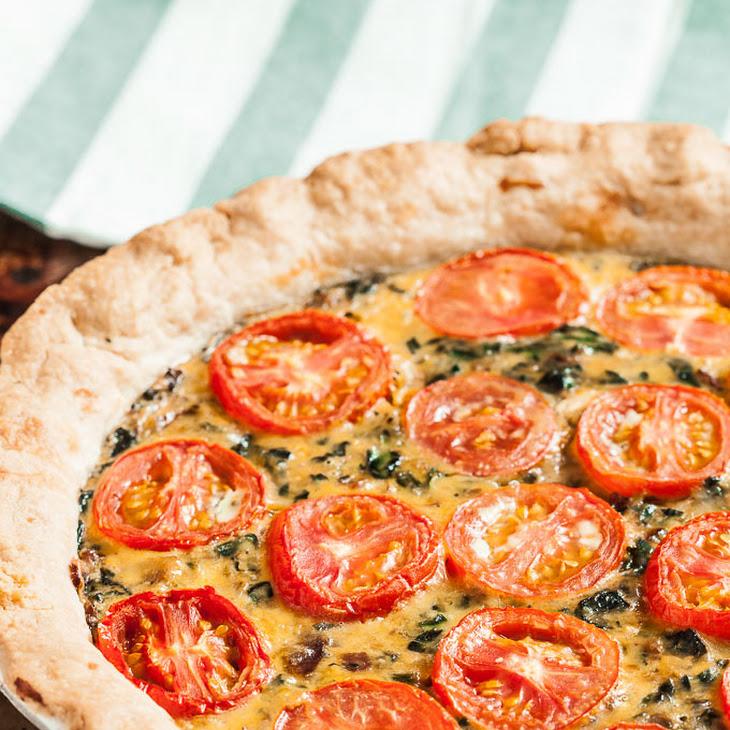 Spinach Tomato Quiche