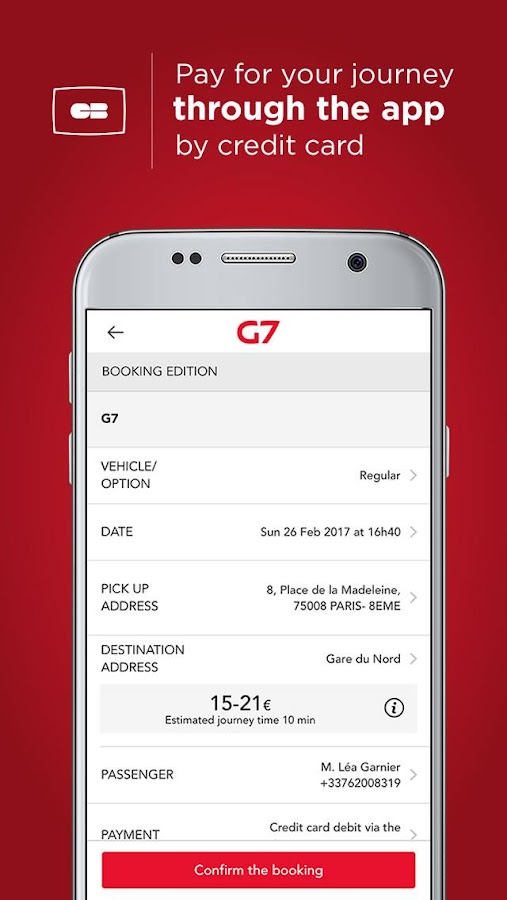 G7 TAXI Personal - Paris- screenshot