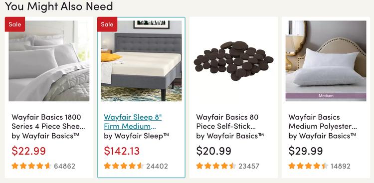 wayfair cross-selling