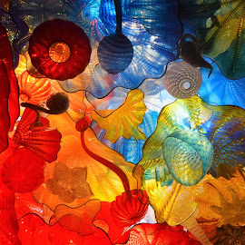 Chihully Ceiling at Maker's Mark Distillery by Lorna Littrell - Artistic Objects Glass ( abstract, chihuly, art, glass )