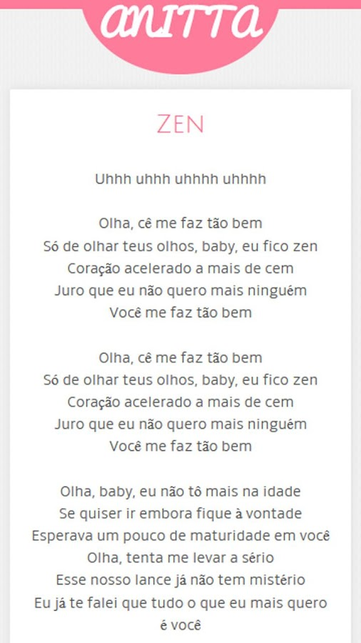 Letras De Anitta Android Apps On Google Play