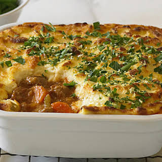 Veal Pie with Cheesy Semolina Topping.