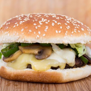 Copycat Hardee's Mushroom and Swiss Burger.
