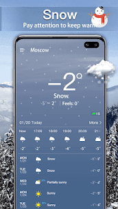 الطقس: توقعات الطقس الحية وعناصر الطقس 3