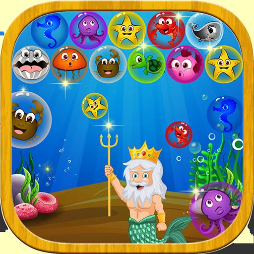 街机の水中バブルのシューティング ゲーム LOGO-HotApp4Game
