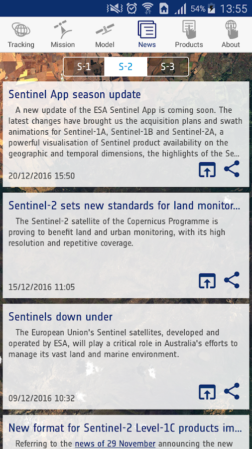 ESA Sentinel- screenshot