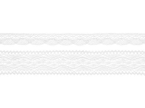 2-pack Spetsband vit