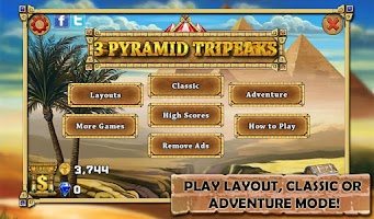 Screenshot of 3 Pyramid Tripeaks