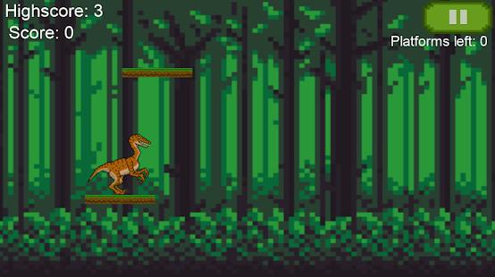 Jumping Dino - Pixel Platform Jumper Mobile Game - náhled