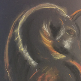 abstract horse by Jeanne Knoch - Painting All Painting