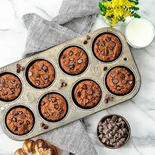 Paleo Pumpkin Chocolate Chip Muffins.