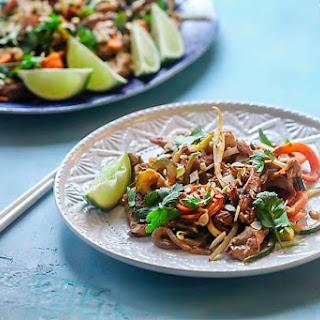 Spiralized Chicken Pad Thai.
