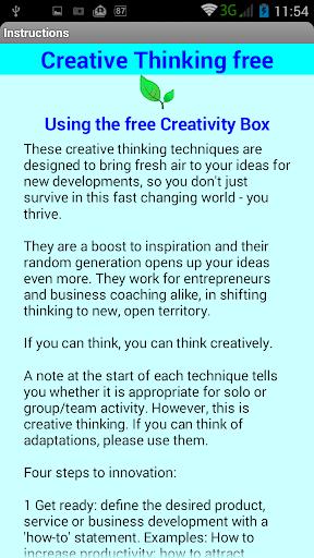 Creative Thinking Box Free 1.5 screenshots 3