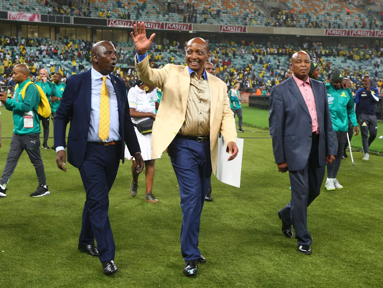 Patrice Motsepe greets fans during the Telkom Knockout 2019 Final match between Maritzburg United and Mamelodi Sundowns at Moses Mabhida Stadium in Durban in this December 14 2019 file photo. Picture: GALLO IMAGES/ANESH DEBIKY