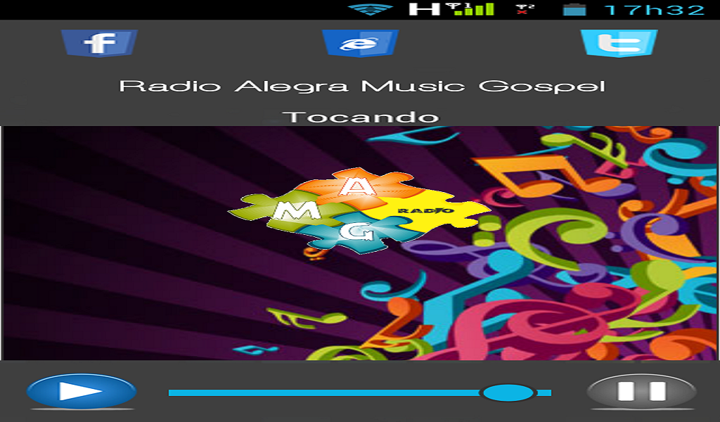 Radio Alegra Music Gospel: captura de tela