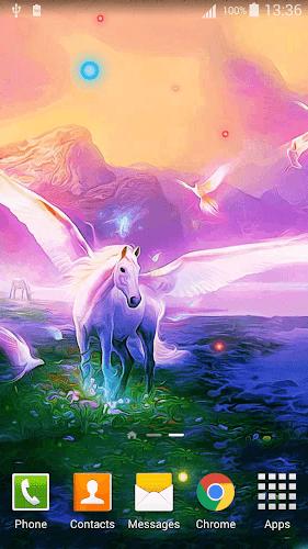 Cartoon Unicorn Live Wallpaper Android App Screenshot