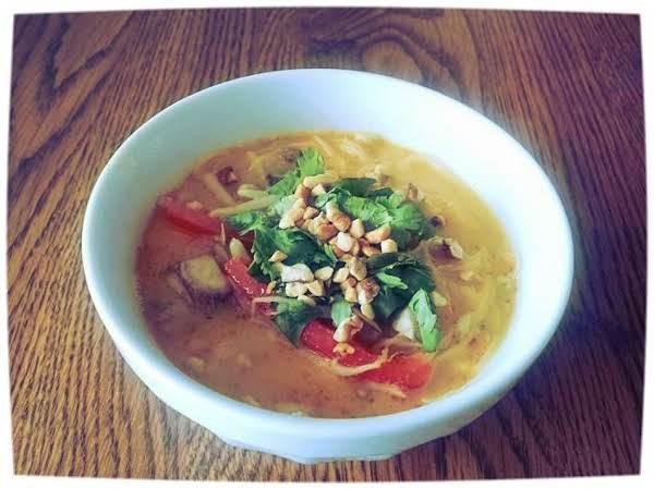 Thai Peanut Chicken Noodle Soup
