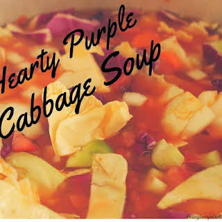 Hearty Purple Cabbage Soup.