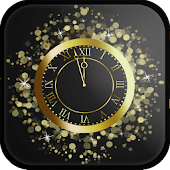 Analog Gold Clock Live Wallpaper