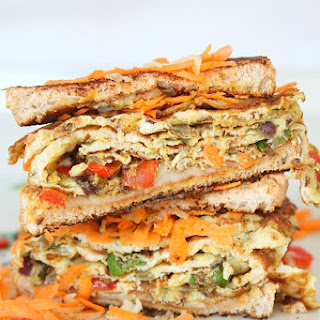 Spicy Indian Omelette sandwich