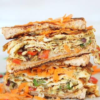 Spicy Indian Omelette sandwich.