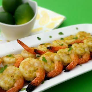 Grilled Jalapeno and Lime Shrimp Skewer.