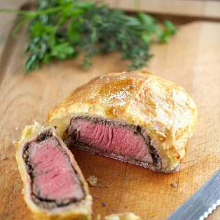 Individual Beef Wellington with Mushroom Sauce Recipe