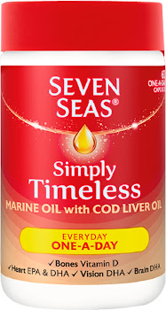 Seven Seas Simply Timeless Marine Oil with Cod Liver Oil One-a-Day - 60 Pack