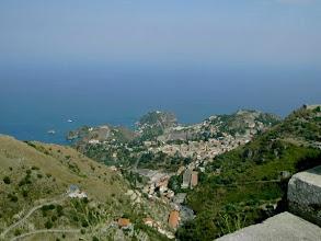 Photo: pohled na Taorminu
