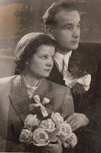 Photo: Zdjęcie slubne Genowefy i Kazimierza Aksamit, rok 1955.  Zdjęcie udostępnione prze P.Ewe Aksamit.