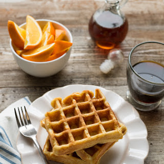Big ol' Batch of Buttermilk Belgian Waffles
