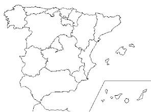 Photo: Mapa mudo autonomías