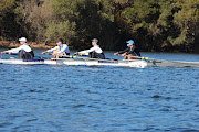 The SA men's four in training (from left): Sandro Torrente, John Smith, David Hunt, Kyle Schoonbee.