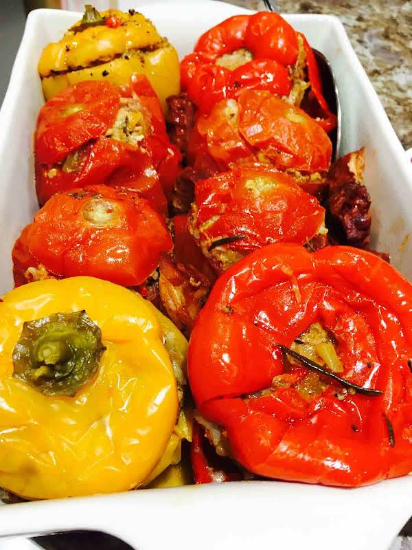 Stuffed Peppers And Tomatoes Recipe