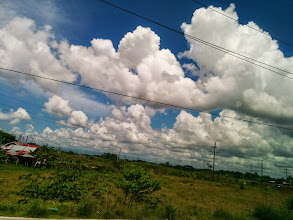 Photo: Because the clouds are nice. On our way to Iloilo Airport.