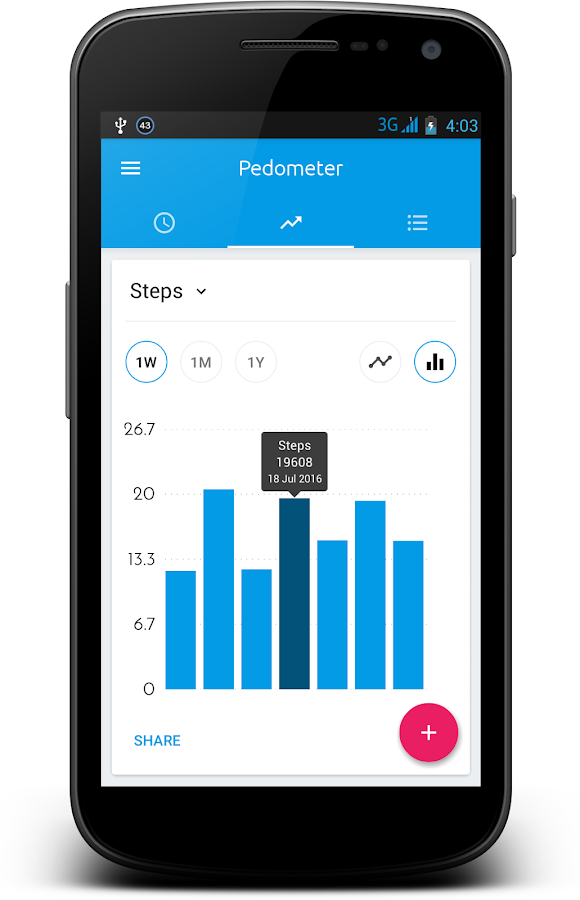 Pedometer & Step Counter- screenshot