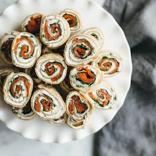 Herbed Chevre, Spinach and Smoked Salmon Pinwheel Recipe
