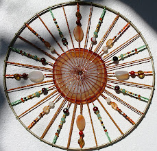 Photo: EARTH - Stones  Brown agape, carnelian round and oval, jasper, aventurine, amber, tigers eye,  garnet, citrine, indian amber, clear quartz, glass beads and owl feathers