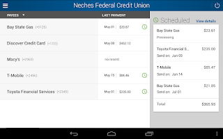 Screenshot of Neches FCU