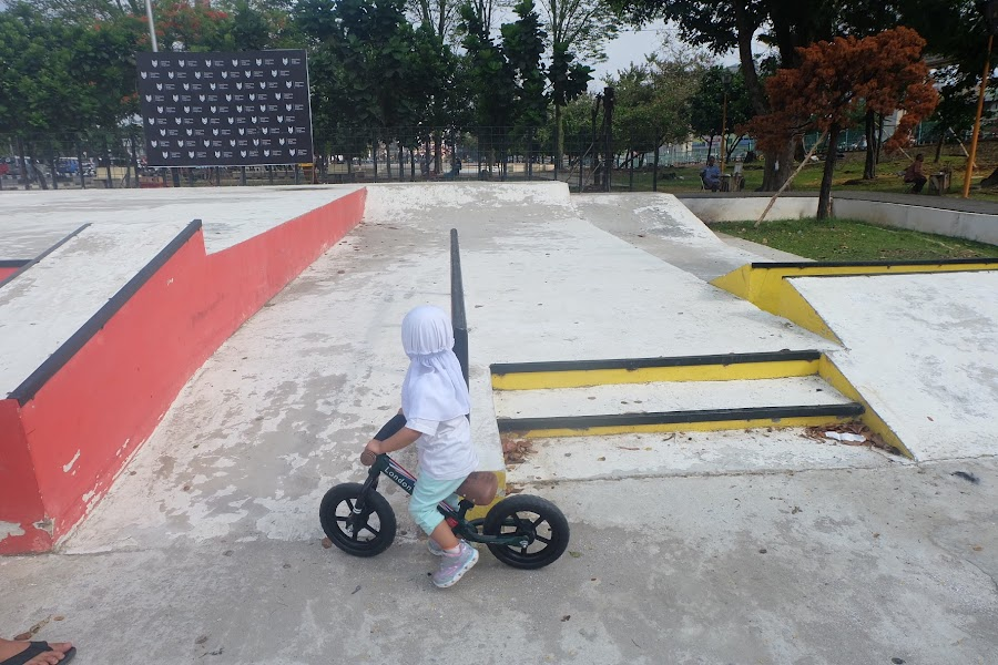 Ampera Skate Park untuk bermain Balance Bike