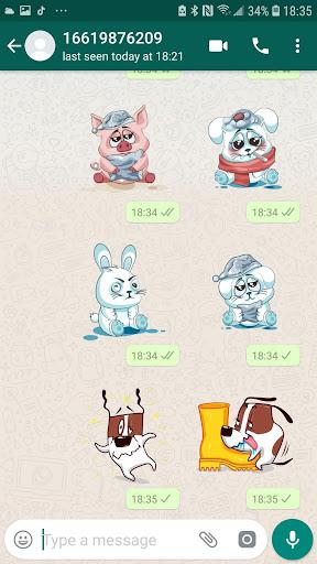 Piggy Animal Stickers for WhatsApp, WAStickerApps 2.0.3 screenshots 4