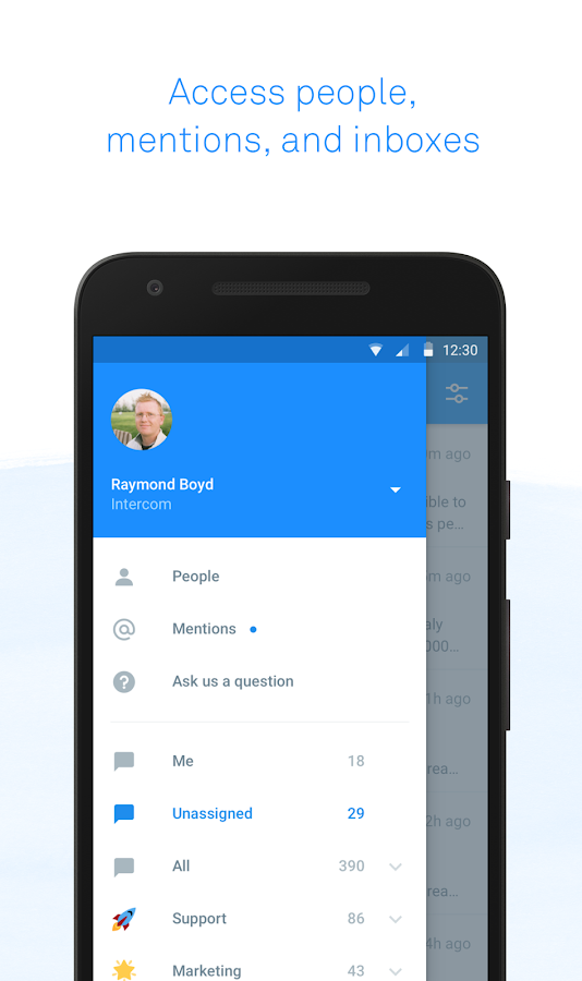 Intercom Conversations- screenshot